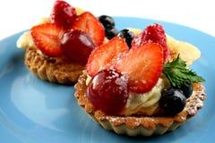 Vruchten cakes Royalty-vrije Stock Foto's