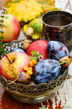Vruchten dalingsoogst Stock Afbeelding