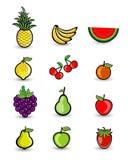 Vruchten de Illustratie van het Groepsbeeldverhaal Stock Afbeelding