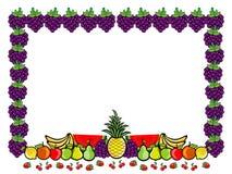 Vruchten de Illustratie van het Groepsbeeldverhaal Royalty-vrije Stock Fotografie