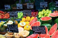 Vruchten in de Markt Stock Afbeelding