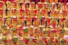 Vruchten in de voedselmarkt Royalty-vrije Stock Afbeeldingen