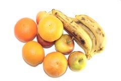 Vruchten die op wit worden geïsoleerd royalty-vrije stock afbeeldingen