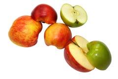 Vruchten die op wit worden geïsoleerdb Stock Fotografie