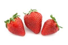 Vruchten drie aardbei Royalty-vrije Stock Afbeelding