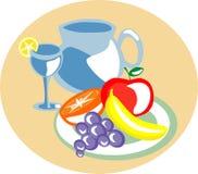 Vruchten in een dienblad Royalty-vrije Stock Afbeeldingen