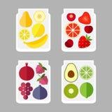 Vruchten in een glaskruik Royalty-vrije Stock Afbeeldingen