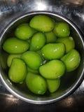 Vruchten in een mand Stock Foto