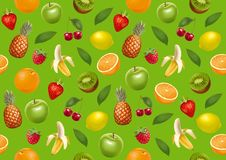 Vruchten eindeloze bacground Groene versie Stock Fotografie
