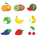 Vruchten en bessen Royalty-vrije Stock Afbeeldingen