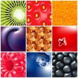 Vruchten en bessen Stock Afbeelding