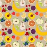 Vruchten en bessen naadloos patroon 3 Royalty-vrije Stock Foto's