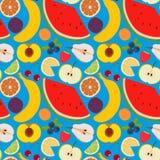 Vruchten en bessen naadloos patroon 2 Stock Afbeelding