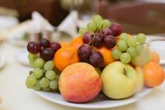 Vruchten en bessen op vakantie stock foto