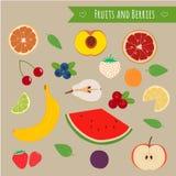 Vruchten en bessenreeks Stock Fotografie