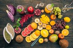 Vruchten en bevroren bessen Royalty-vrije Stock Foto