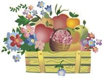 Vruchten en bloemen vector illustratie
