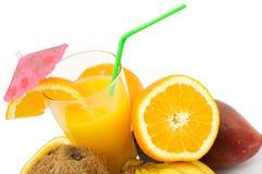 Vruchten en cocktail Stock Foto