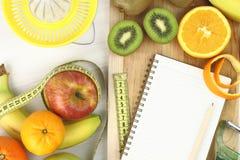 Vruchten en dieet royalty-vrije stock foto
