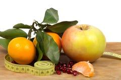 Vruchten en dieet stock afbeelding