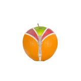 Vruchten en dieet tegen cellulite royalty-vrije stock foto
