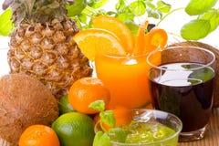 Vruchten en Dranken Royalty-vrije Stock Foto's