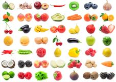 Vruchten en Groenten Stock Afbeelding