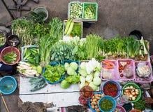 Vruchten en groenten bij lokale markten Bangkok, Thailand Royalty-vrije Stock Afbeeldingen