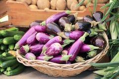 Vruchten en groenten bij markt Stock Afbeelding