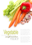 Vruchten en Groenten en ingrediënten Stock Foto's