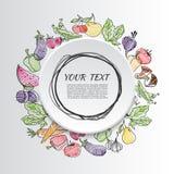 Vruchten en groenten Gezond voedsel Stock Afbeeldingen