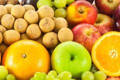 Vruchten en groenten organisch voor gezond Stock Afbeeldingen
