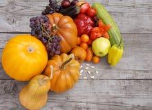 Vruchten en groenten, organische de herfstoogst stock foto