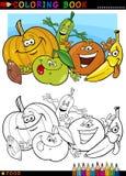Vruchten en groenten voor het kleuren Stock Afbeelding