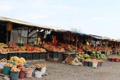 Vruchten en groentenmarkt royalty-vrije stock foto