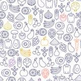 Vruchten en groentenpatroon Royalty-vrije Stock Afbeeldingen