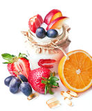 Vruchten en pillen Stock Fotografie