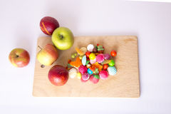 Vruchten en suikergoed Royalty-vrije Stock Foto's