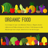 Vruchten, groentenpictogrammen Stock Afbeeldingen