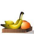 Vruchten in het dienblad Royalty-vrije Stock Fotografie