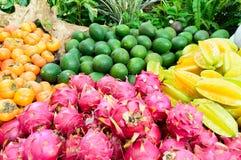 Vruchten in landelijke markt Royalty-vrije Stock Afbeeldingen
