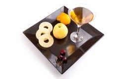 Vruchten met Drank Royalty-vrije Stock Afbeelding