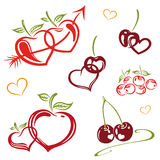 Vruchten met liefde Royalty-vrije Stock Fotografie