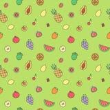 Vruchten multicolored overzichts naadloos vectorpatroon modern minimalistic ontwerp Stock Afbeelding