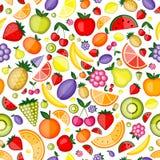 Vruchten naadloos patroon voor uw ontwerp stock illustratie