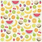 Vruchten naadloze achtergrond Stock Foto's