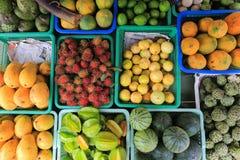 Vruchten op de markt Stock Foto