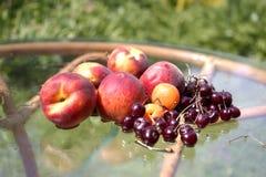 Vruchten op een lijst Stock Afbeelding