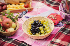 Vruchten op een picknick Royalty-vrije Stock Foto's