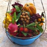 Vruchten op het strand royalty-vrije stock foto